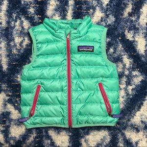 patagonia | kids teal puff vest